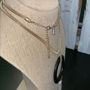 Classics long circle with dangle necklace